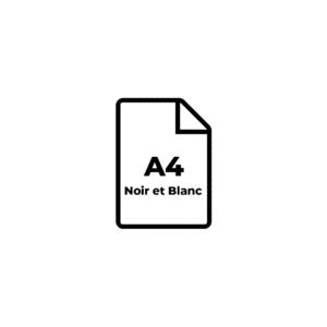 A4 Noir et Blanc