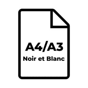 A4/A3 Noir et Blanc